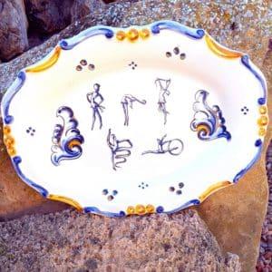 Bandeja de cerámica artesanal de Talavera - MMsport