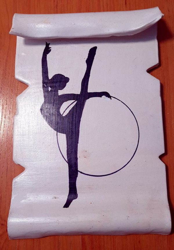 Aro - Pergamino de barro cocido hecho a mano con diferentes motivos de gimnasia rítmica - MMSport
