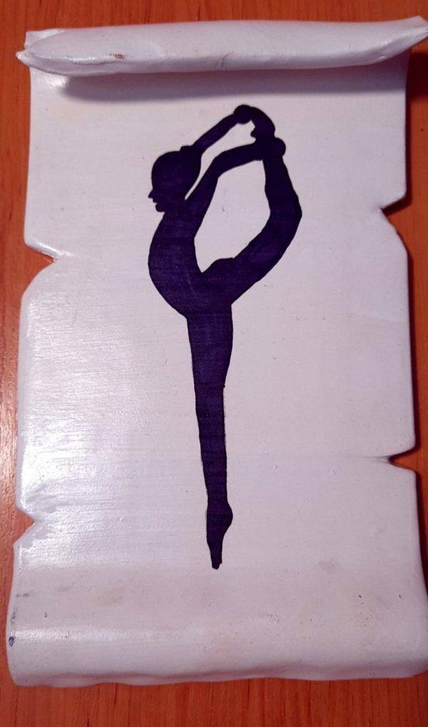 Manos libres - Pergamino de barro cocido hecho a mano con diferentes motivos de gimnasia rítmica - MMSport