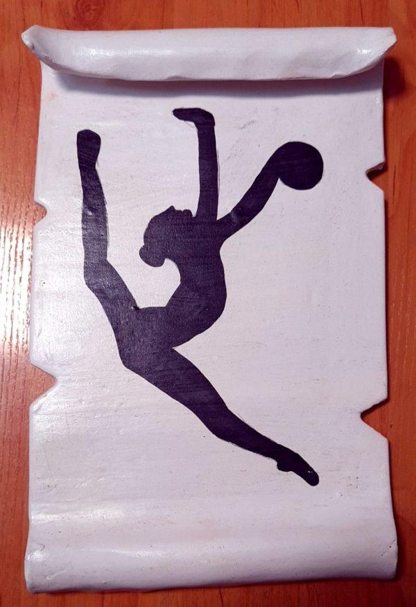 Pelota - Pergamino de barro cocido hecho a mano con diferentes motivos de gimnasia rítmica - MMSport